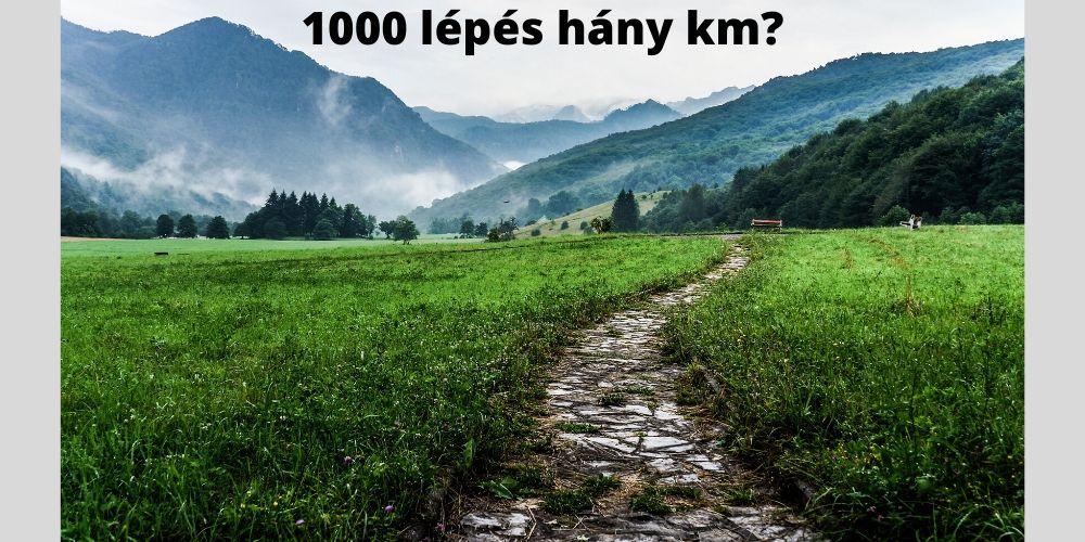 10000 lépés hány km