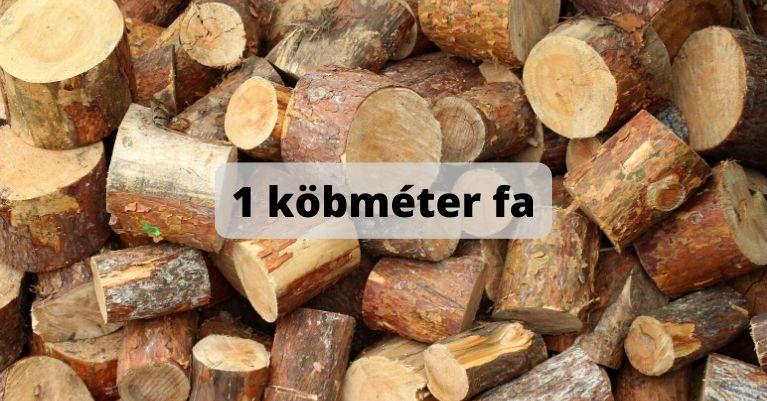 1 köbméter fa