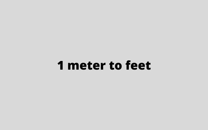 1 meter to feet
