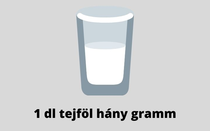 1 dl tejföl hány gramm