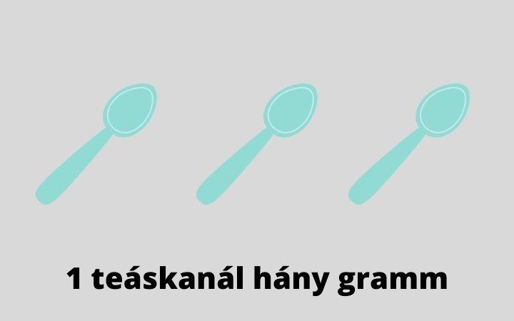 1 teáskanál hány gramm