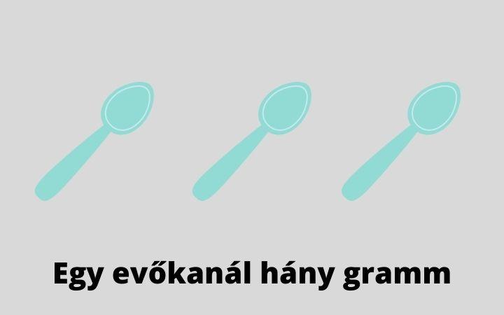 egy evőkanál hány gramm